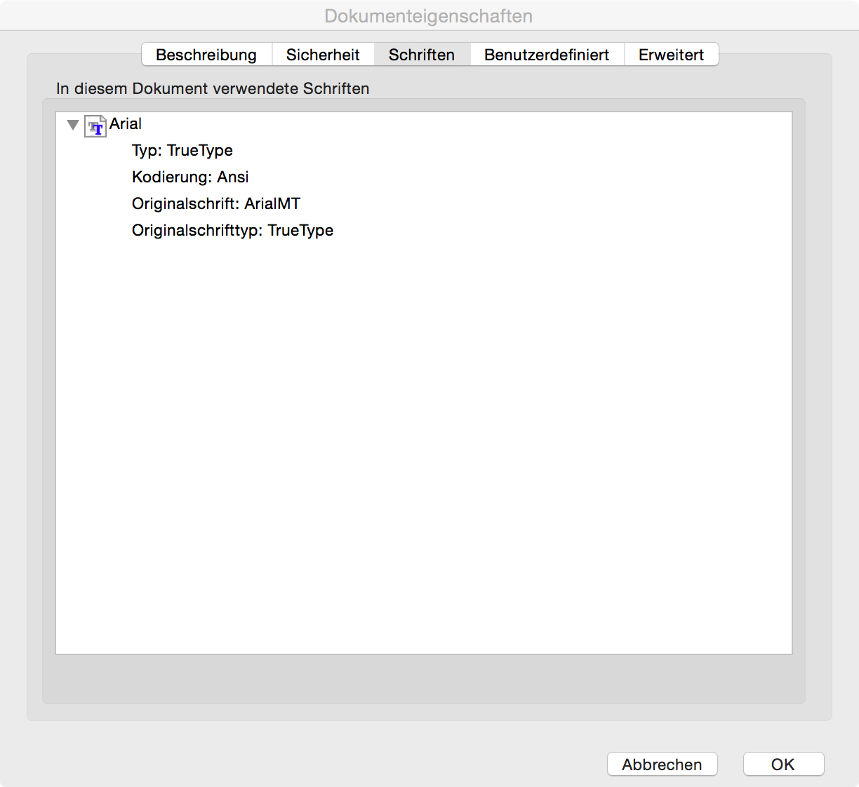 ActualFont in Adobe Reader on OS X
